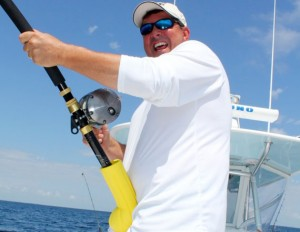 Luna Sea Sports President and inventor, Mick Saunders thinks out of the box and fights big fish with ease with his Cushit!