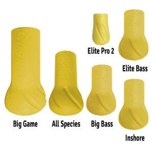 cushit yellow all sizes - rod float - rod butt cushion