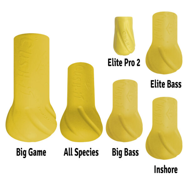 cushit yellow all sizes - rod float - rod butt cushion