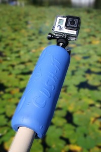 landing net float - gaf float - go pro rod floating