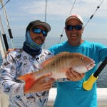 cushit cush-it fishing florida - mick and primo using rod butt cushion