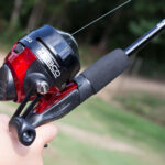beginner fishing rod and reel - spincast rod and reel by Zebco