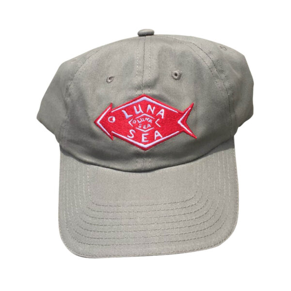 olive hat with red luna sea logo